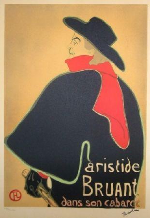 Lithographie Toulouse-Lautrec - Aristide Bruant