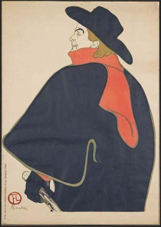 Lithographie Toulouse-Lautrec - Aristide Bruant dans son cabaret