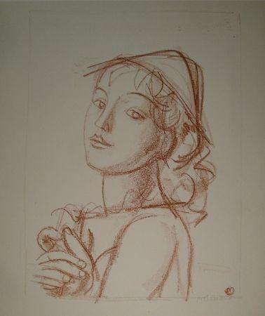 Lithographie Barraud - Arlequin