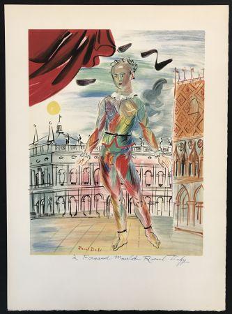 Lithographie Dufy - Arlequin a la Maniere Venitienne