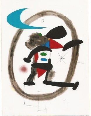 Lithographie Miró - Arlequin Circonscrit