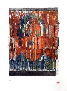 Lithographie Cesar - Arrachage