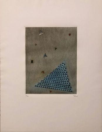 Gravure Piza - Arrangement des triangles
