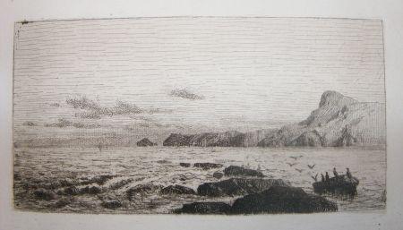 Eau-Forte Et Aquatinte De Haes - Arrecifes (Marina: Roca, gaviotas)