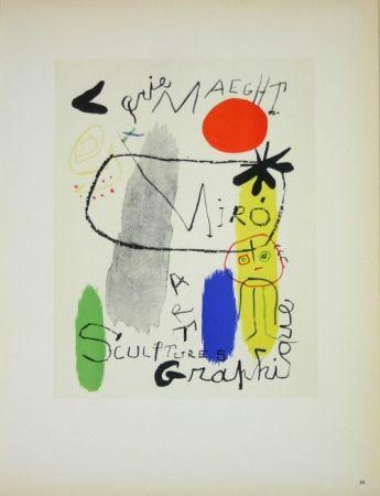 Lithographie Miró - Art Graphique Galerie Maeght