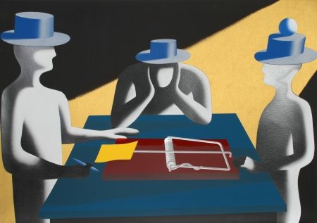 Sérigraphie Kostabi - Art of the Deal