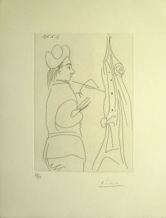 Gravure Picasso - Artist At Easel