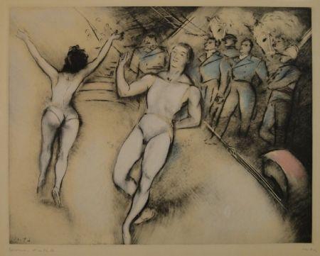 Eau-Forte Vertes - (Artisten im Zirkus)