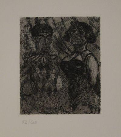 Eau-Forte Schürch - Artistenpaar