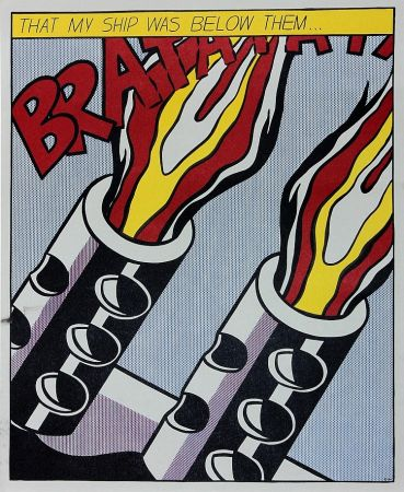 Lithographie Lichtenstein - As I Opened Fire Iii