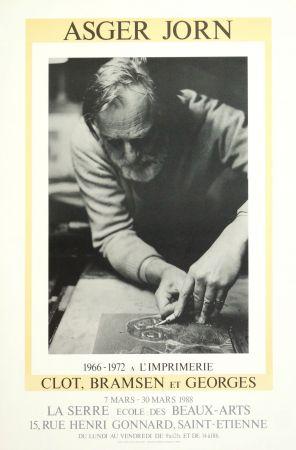 Affiche Alechinsky - AsgerJorn à l'imprimerie Clot, Bramsen & Georges