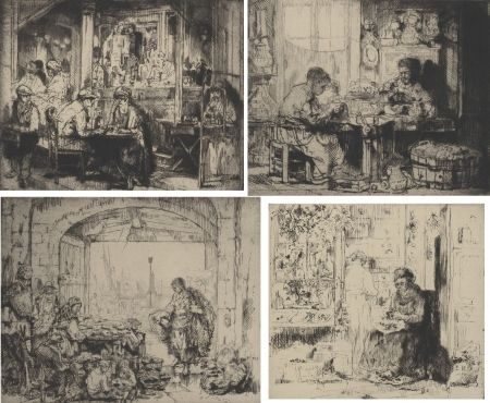 Gravure Brouet - (Assorted Occupations:  A Collection Of Ten Original Etchings)