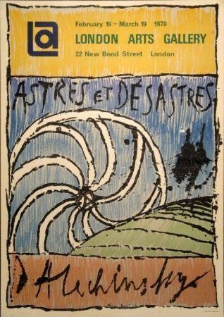 Lithographie Alechinsky - Astres et Désastres