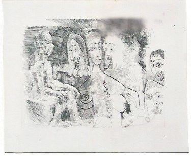 Gravure Picasso - Atelier