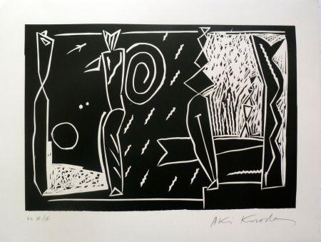 Linogravure Kuroda - Atlantide II