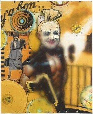 Lithographie Liot - Atoportrait jaune