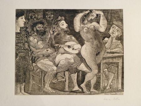 Eau-Forte Picasso - AU CABARET