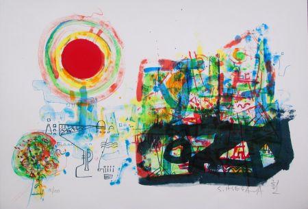 Lithographie Hasegawa - Aube