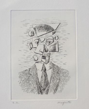 Eau-Forte Magritte - Aube à l'Antipode