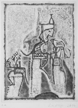 Aquatinte Kouliev - Audienz beim Sultan