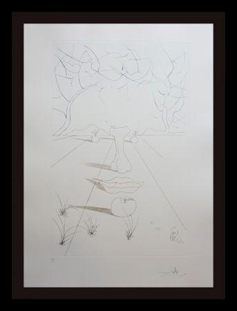 Gravure Dali - Aurelia Visage Surrealiste