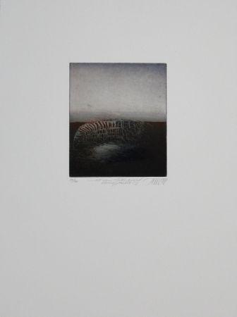 Eau-Forte Et Aquatinte Mordstein - Aus dem Totenbuch einer Stadt, 2 / From a City's Book of the Dead, 2