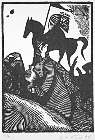 Linogravure Kouliev - Aus der Serie