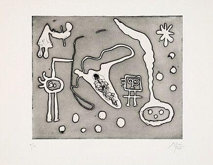Eau-Forte Et Aquatinte Miró - Aus