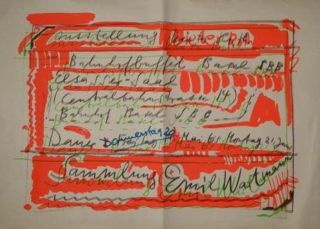 "Sérigraphie Roth - ""Ausstellung Dieter Roth / Bahnhofbuffet Basel SBB..."
