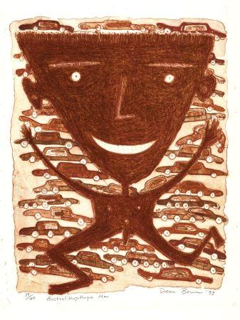 Lithographie Bowen - Australithopiteque Man