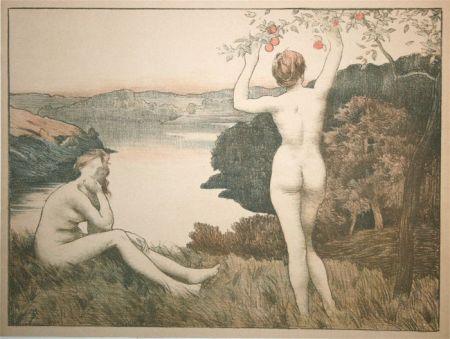 Lithographie Menard - Automne