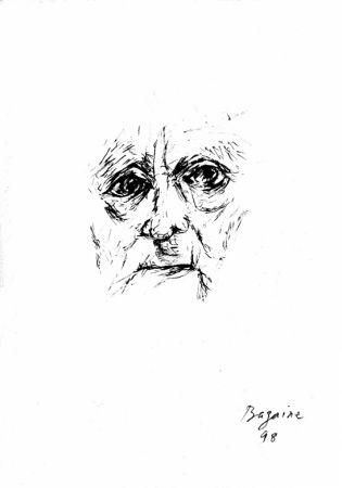 Lithographie Bazaine - Autoportrait