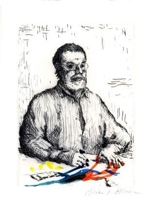 Eau-Forte Et Aquatinte Olivier O - Autoportrait