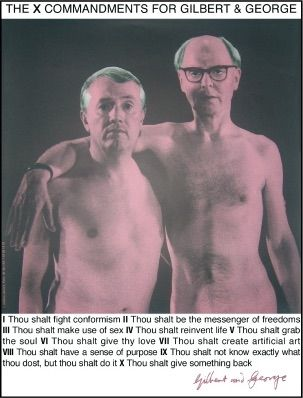 Sérigraphie Gilbert & George - Autoportrait