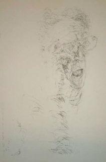 Lithographie Arhika - Autoportrait
