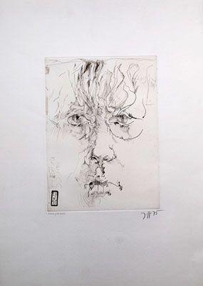 Eau-Forte Janssen - Autoportrait