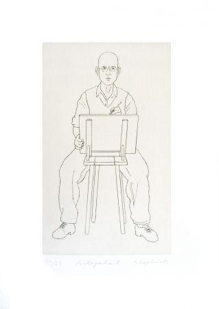 Gravure Klapheck - Autoportrait