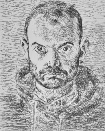 Eau-Forte Cossé - Autoportrait (1er état)