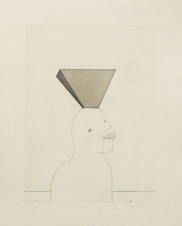 Eau-Forte Et Aquatinte Wunderlich - Autoportrait avec pyramide