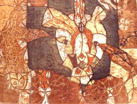 Gravure Sur Bois Toledo - Autoretrato