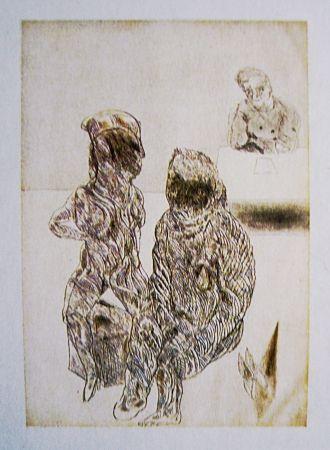 Eau-Forte Et Aquatinte Cuevas - Autorretrato con pareja