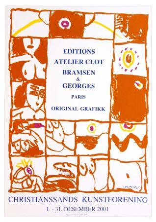 Affiche Alechinsky - Autour de Georges Visat Editeur