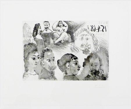 Eau-Forte Picasso - Autour d'El Greco et de Rembrandt: Portraits