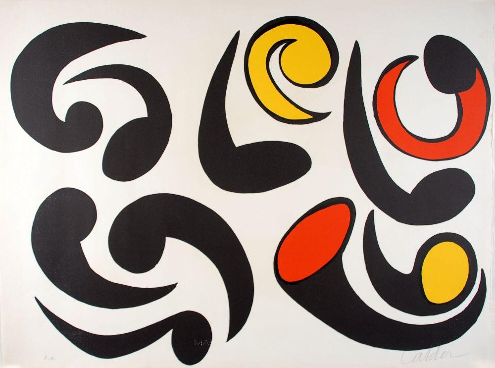 Lithographie Calder - Autres têtards