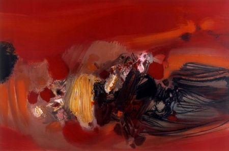 Lithographie Chu Teh Chun  - Autumn