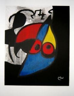 Lithographie Miró - Avant la lettre