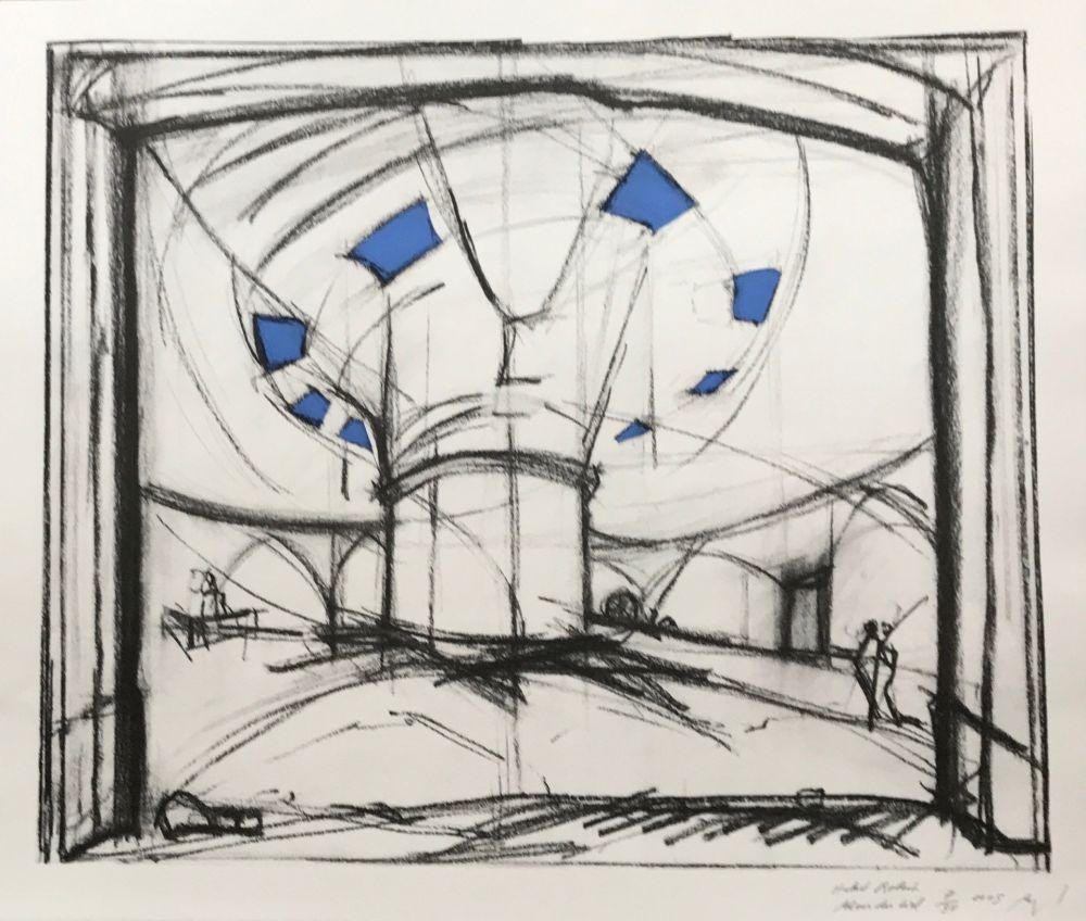Sérigraphie Buraglio - Avec Hubert Robert – Gauloise Bleue