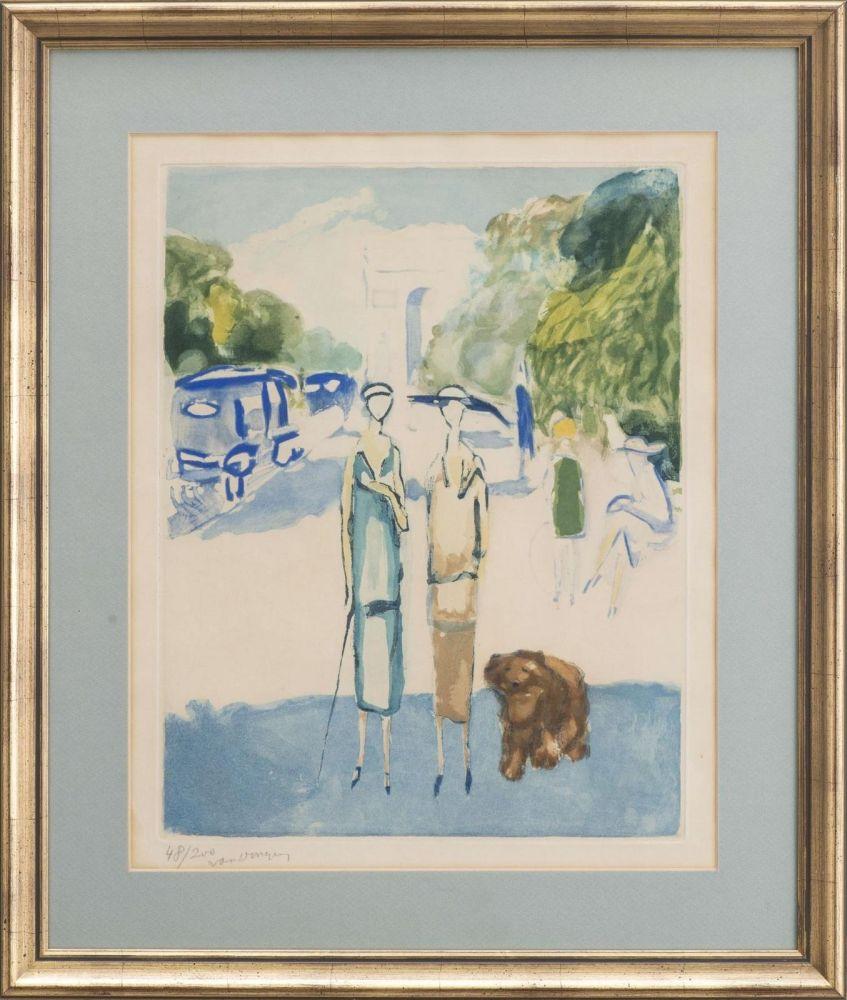 Aquatinte Van Dongen - Avenue du Bois, 1928
