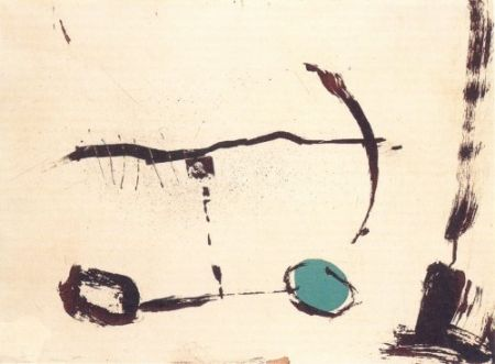 Gravure Riera I Aragó - Avió roda devant blava