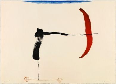 Gravure Riera I Aragó - Avión negro y rojo en ángulo